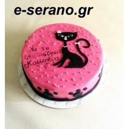 Τούρτα γάτα ρόζ