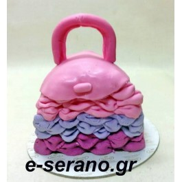 Τούρτα τσάντα ρόζ-μώβ