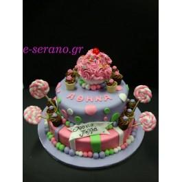 Τούρτα cupcake με γλυφιτζούρια- candy