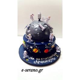 Τούρτα διάστημα-αστρονάυτες