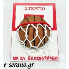 Τούρτα μπάλα του μπάσκετ- καλάθι