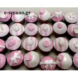 Cupcakes φιογκάκι-λουλούδι