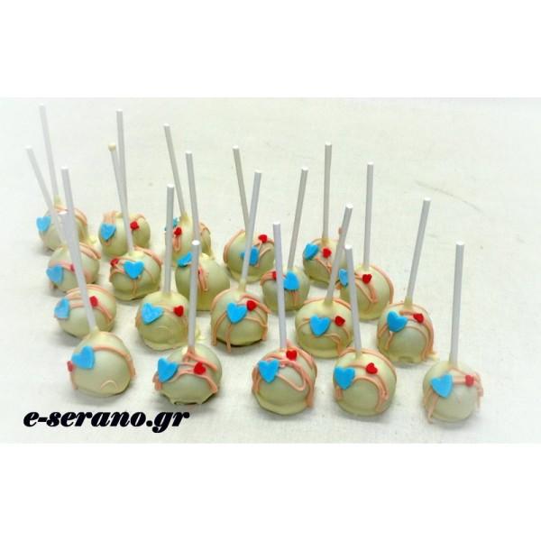 Cake pops καρδούλες