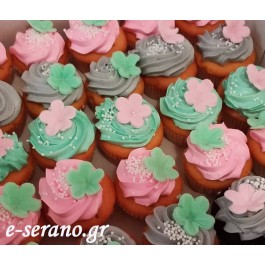 Cupcakes  mini λουλούδια
