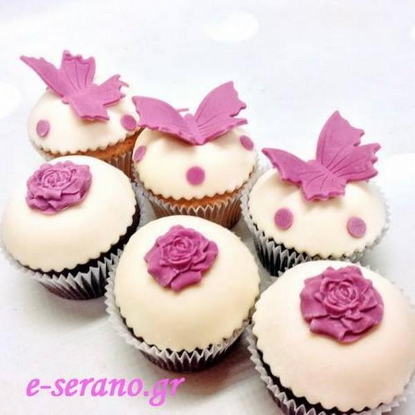 Cupcakes πεταλούδα