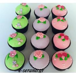 Cupcakes λουλούδια