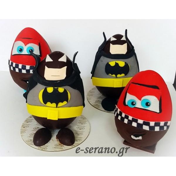 Πασχαλινά σοκολατένια mqueen και batman
