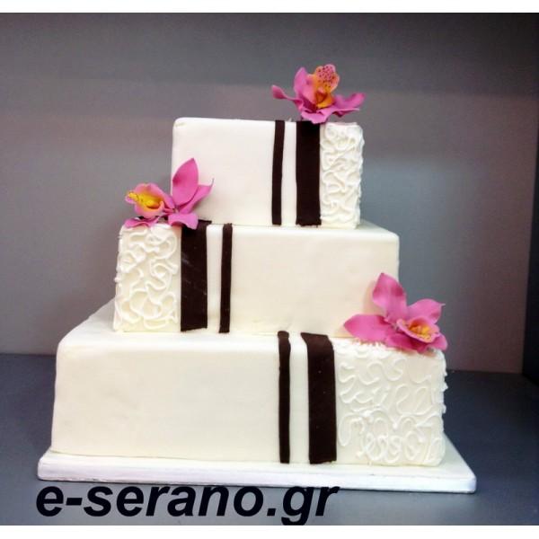 Τούρτα γάμου Lillies g67