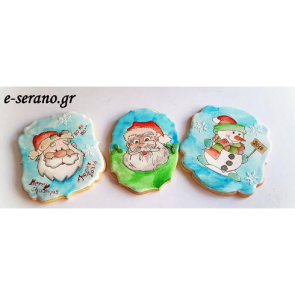 Χριστουγεννιάτικα μεγάλα μπισκότα