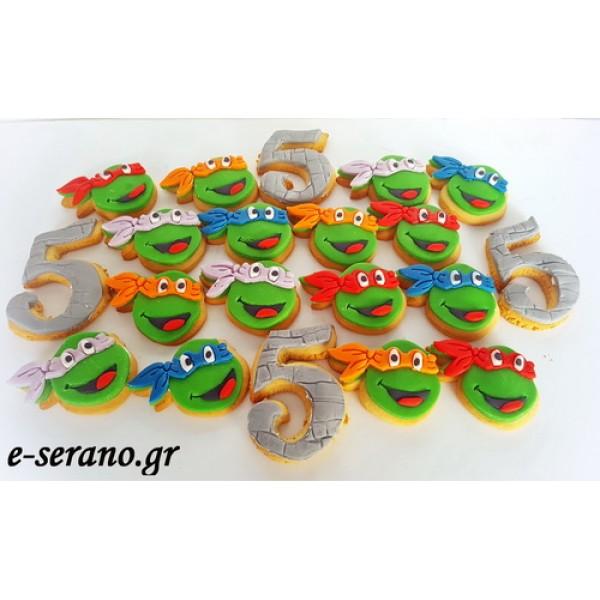 Μπισκότα χελωνονιντζάκια-αριθμός