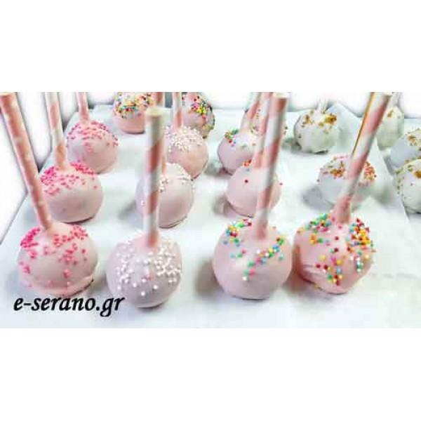 Cake pops ροζ