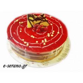 Τούρτα σοκολάτα φράουλα