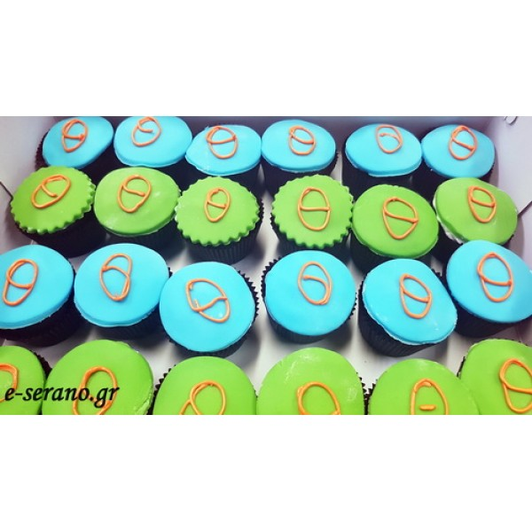 Cupcakes μονόγραμμα