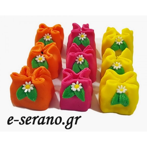 Cake pops πουγκί με λουλούδια