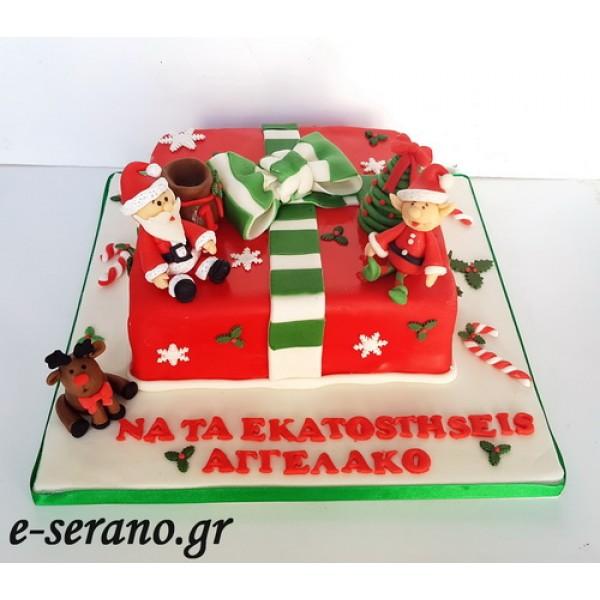Δώρο τούρτα άγιος βασίλης-τάρανδος