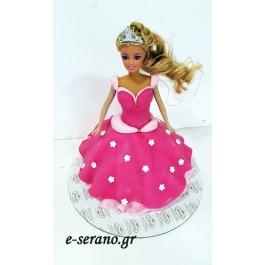 Τούρτα κούκλα barbie