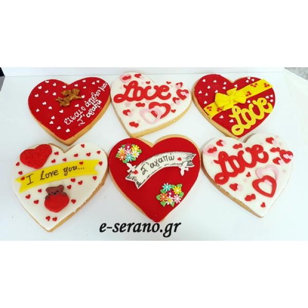 Μπισκότα μεγάλα καρδιά