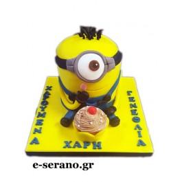 Τούρτα minion-cupcake