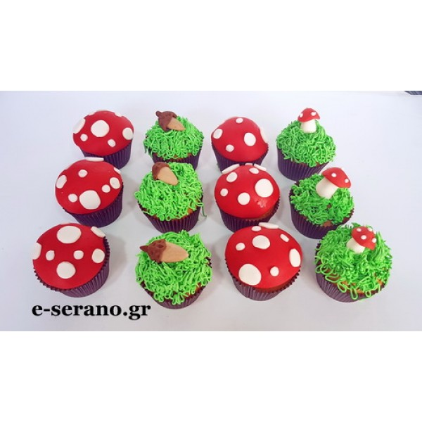 Cupcakes με θέμα δάσος-ζωάκια