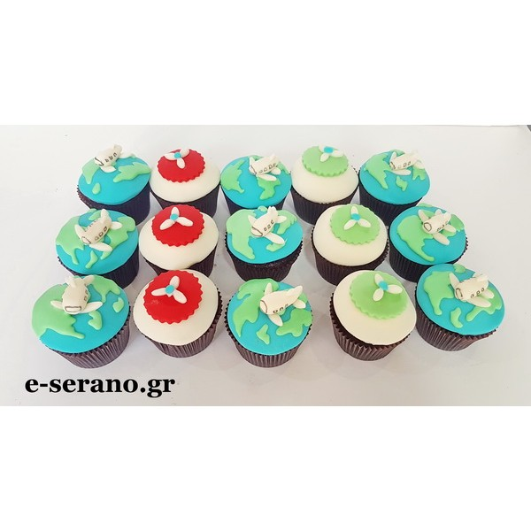 Cupcakes με θέμα travel the world