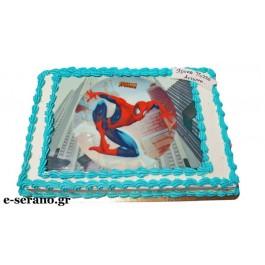 Tούρτα με εκτύπωση spiderman