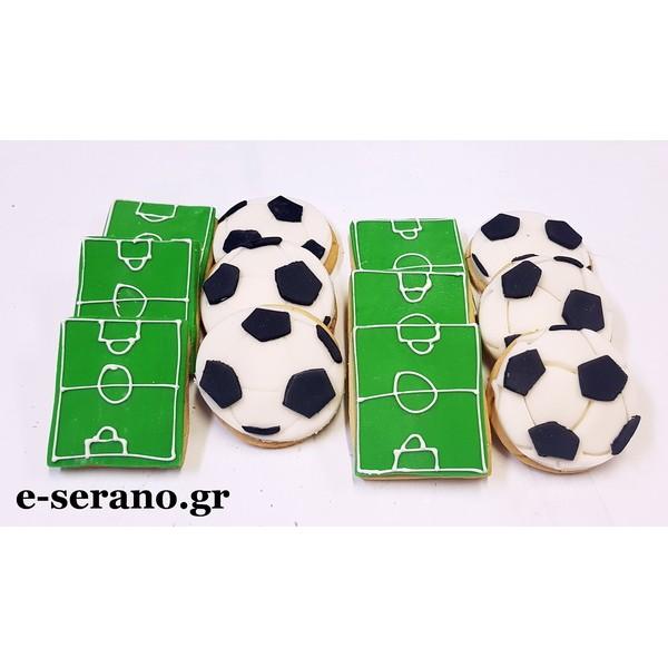 Μπισκότα μπάλα ποδοσφαίρου-γήπεδο