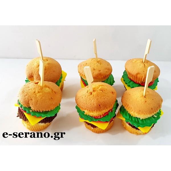 Cupcakes χάμπουργκερ