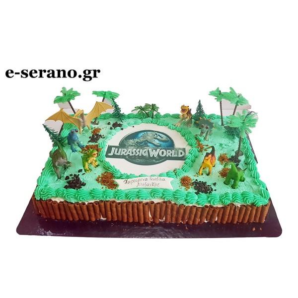 Τούρτα δεινόσαυροι-jurassic world