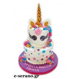 Τούρτα unicorn-μονόκερος πουά