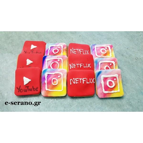 Μπισκότα netflix-instagram-youtube