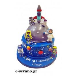 Τούρτα διάστημα-αστροναύτης