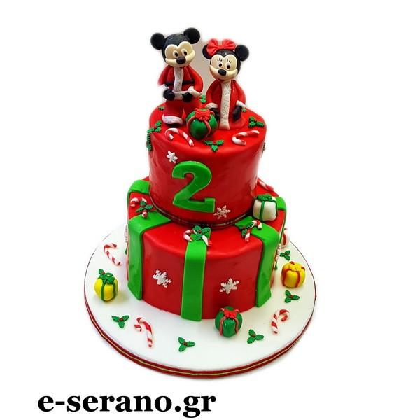 Χριστουγεννιάτικη Τούρτα mickey-minnie