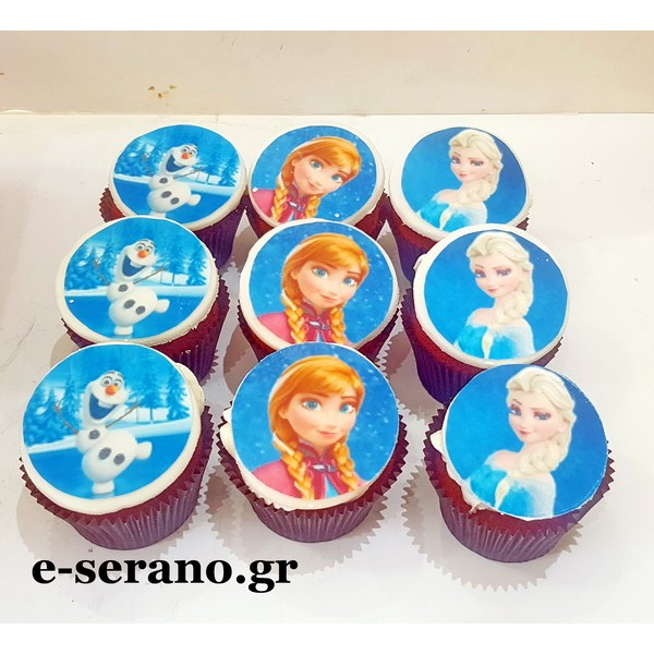 Cupcakes frozen elsa-anna-olaf