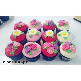 Cupcakes με λουλούδια