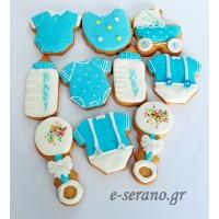 Cupcakes-μπισκότα με ζαχαρόπαστα-cake pops