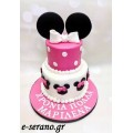 Τούρτα minnie mouse ρόζ